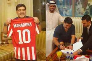 Legend Diego Maradona Makes Shock Return To Football Management In UAE {Photos}